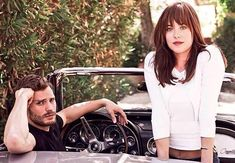 Jamie Dornan and Dakota Johnson #FiftyShades