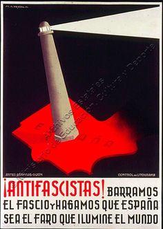 Carteles de la Guerra Civil Española - Cultura Colectiva - Cultura Colectiva Ww2 Propaganda Posters, Political Posters, Vintage Travel Posters, Vintage Ads, Spanish War, Civil War Art, Party Poster, Messages, History