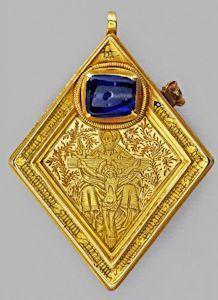 Richard III and the Middleham Jewel - News and events, University of York Renaissance Jewelry, Medieval Jewelry, Ancient Jewelry, Antique Jewelry, Vintage Jewelry, Jewelry Art, Fine Jewelry, Jewelry Design, Golden Treasure