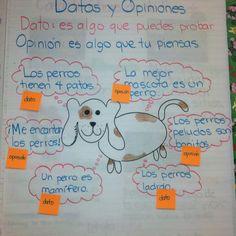 Datos y opiniones, la hice con mis estudiantes les encanto y entendieron el concepto