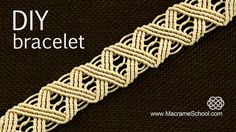 DIY Wavy Macrame ZigZag Eternal Wave Bracelet X Cross Pattern Tutorial. To make this bracelet you only need to know one simple knot. This bracelet looks grea...
