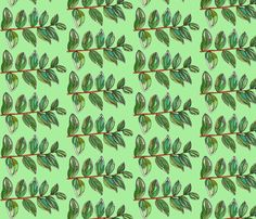 branch in green fabric by aprilmariemai on Spoonflower - custom fabric