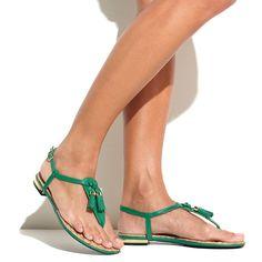 Emerald Tassel Sandal