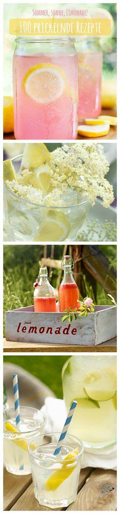 Von Rhabarber-Limo, dem Klassiker Zitrone bis Holunderblüte – diesen Sommer wird sich mit selbst gemachten Limonaden erfrischt.  Hier gibts 100 prickelnde Gratis-Rezepte zum Ausprobieren: http://eatsmarter.de/rezepte/rezeptsammlungen/limonade-fotos#/