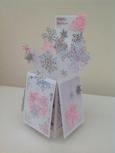 Snowflake pop up card