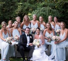 Effortless love in Cloud dresses! Amsale Bridesmaid, Green Bridesmaid Dresses, Wedding Dresses, Blue Wedding, Wedding Colors, Real Weddings, Wedding Inspiration, Clouds, Instagram Posts