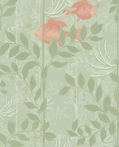Nautilus Soft Green wallpaper by Cole & Son