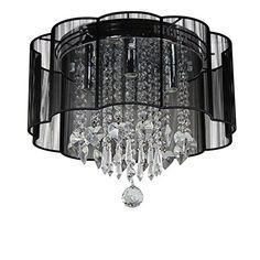 Dst Modern Black Shade Chandelier Flush Mount Crystal Cei... http://www.amazon.com/dp/B00SKJOZSQ/ref=cm_sw_r_pi_dp_ARCixb1CFZQ94