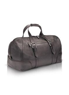 Pineider 1774 - Ebony Rugato Calfskin Boston Bag