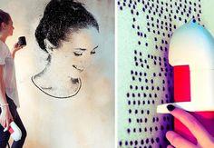 Få smukke vægge med den nye SprayPrinter-teknologi. Dine egne billeder og design på væggene!