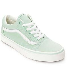 1622ca63696b15 Vans Old Skool Gossamer Green Shoes (Womens) Vans Shoes Women