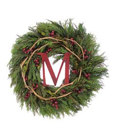 Look what I found on #zulily! Merry Christmas Wreath by Floral Treasure #zulilyfinds