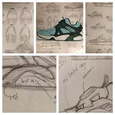 "Project genesis. Original drawings of #PUMA ""Cove"" Disc Blaze #shoes #sneakers…"