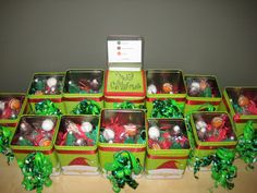 Christmas Cake Pop Boxes  by the Baking Bar - PERFECT! I would have never thought to use tins