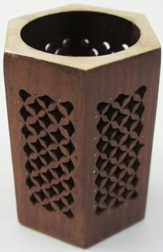 Additional 20% OFF Sale Going on -Pen - Pencil Holder Made of Wood with Mesh Work by The Modish Store $20, http://www.amazon.com/dp/B00AQXB3O8/ref=cm_sw_r_pi_dp_yVAkrb0KJX0K4
