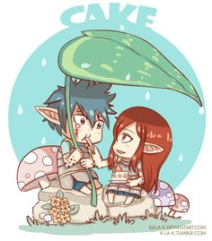 Koropokkuru: are a race of small people in Ainu (japanese ethnic) folklore. Fairy Tail Art, Fairy Tail Ships, Fairy Tail Anime, Fairy Tales, Jellal And Erza, Fariy Tail, Fairy Tail Couples, Gruvia, Erza Scarlet