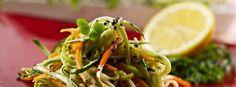 zucchini asian slaw 31620 of Gluten Free Recipes Savoury, Healthy Recipes, Asian Slaw, Chili Oil, Slaw Recipes, Roasted Garlic, Seaweed Salad, Salad Dressing