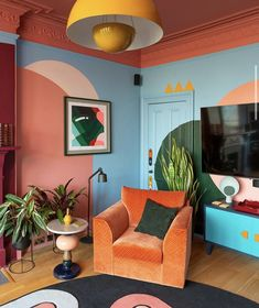 TOP 10 AIRBNBS IN MEXICO CITY Living Room Decor, Living Spaces, Bedroom Decor, Home Interior Design, Interior And Exterior, Colorful Interior Design, Memphis Design, Style Deco, New Room
