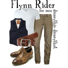Flynn Rider by disneythis-disneythat on Polyvore  yeah... i'd wear it.