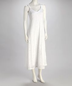 Take a look at this White Jungle Burnout Maxi Dress by Kial on #zulily today!