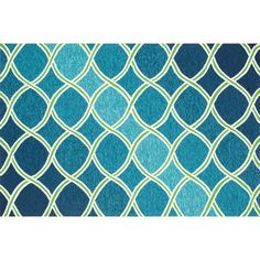 Venice Beach Blue and Green Rectangular: 2 Ft 3 In x 3 Ft 9 In Rug