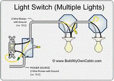 wiring diagram for multiple lights on one switch power coming in rh pinterest com wiring a garage light switch wiring a garage light