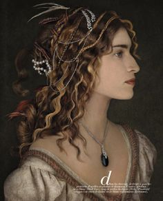 """""""Family Jewels"""": Master Portrait-Inspired People in Jewels by Peter Lippmann in Marie Claire"""