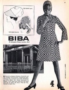 Biba Abingdon Road, London ~ 1960s Rave magazine spread