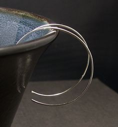 Medium Silver Hoop Earrings, Lightweight, Comfortable Sterling Silver Hoops by ElunaJewelry on Etsy https://www.etsy.com/transaction/257250186