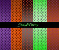 Cool Witch Pattern Backgrounds. This is one of 5 background witch pattern sets I have designed for Halloween--or any time you might want to reference bats witches and such. The other 4 sets are Halloween Stripes Batty Backgrounds Jack-O-Lantern and Spider Lines. All of these sets use the same palate of Halloween-familiar colors. This Witchy Backgrounds set includes a pattern file a .png of the pattern design and large high resolution .png images of the design in 20 different color…