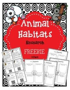 Use this freebie to get students excited about animal habitats. Use as a whole group, small group, or independent research activity.This correlates with Common Core informational writing standards.Includes Fun Fact Cards - 1 with facts and 1 with facts an