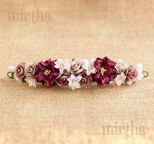 Tocados de flores - Tocado Etna Gardenias, Dani, Crochet, Floral, Flowers, Wedding, Jewelry, Fashion, Pink Blossom
