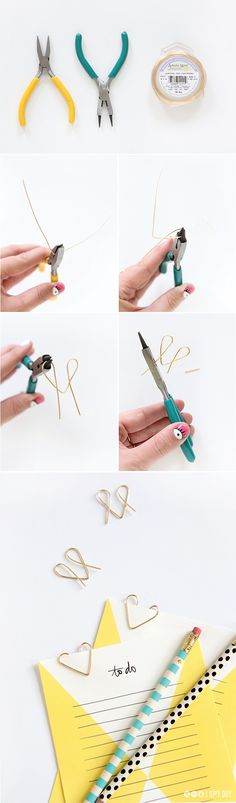 DIY heart paper clips because your daily memos need a little love. Making my everyday more fun with @Chase Freedom Unlimited. #UnlimitedFun #Sponsored