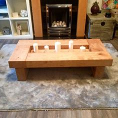 Items similar to Oak coffee table, dark wood coffee table, coffee table, sleeper coffee table, sleeper table. sleeper coffee table on Etsy Dark Wood Coffee Table, Cube Coffee Table, Cube Table, Coffee Table Plans, Rustic Coffee Tables, Coffee Table Design, Sleeper Table, Oak Sleepers, Tabletop