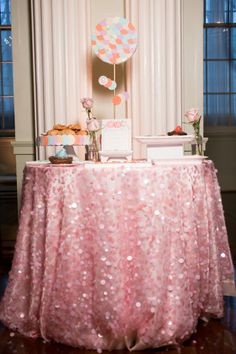 This is the sweetest Bridal Luncheon ever! I love all the sparkles!