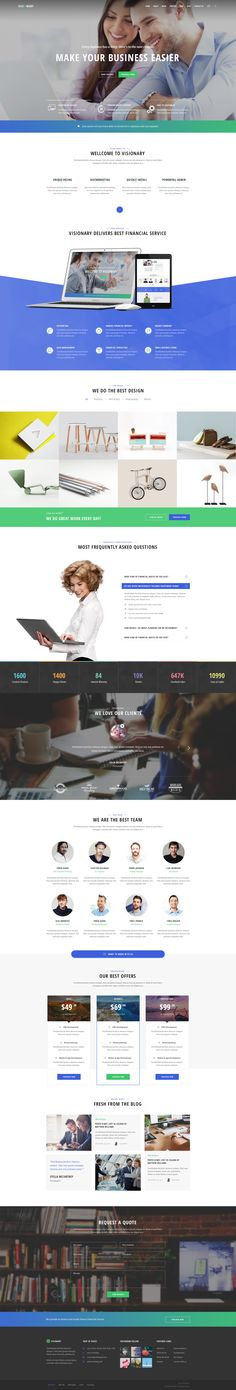 Visionary is the advanced PSD template for creative agencies and freelancers, including graphic designers, illustrators, photographers or any kind of creative.Download: http://bit.ly/tfvisionary-psd