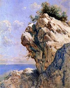 Rock by Hoca Ali Riza (Turkish, Cambodia Travel, Old Art, Landscape Paintings, Landscapes, Light In The Dark, Istanbul, Sculptures, Illustration Art, Watercolor
