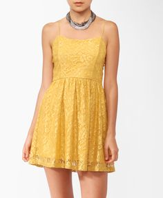 Lace Spaghetti Strap Dress | FOREVER21 - 2000045773