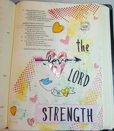 Bible Journaling created using Heidi Swapp texture paste, Distress Inks and Honey Bee Stamps