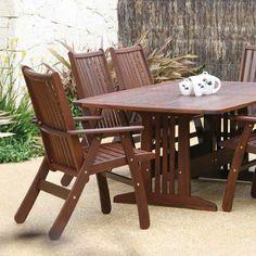 Jensen leisure patio furniture on pinterest wood for Outdoor furniture bunbury