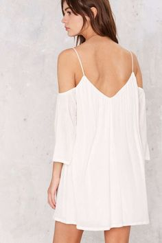 Tessa Cold Shoulder Mini Dress - Casual Dresses | White Dresses