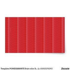 Template POMEGRANATE fruit color DIY + TEXT IMAGE Rectangular Sticker