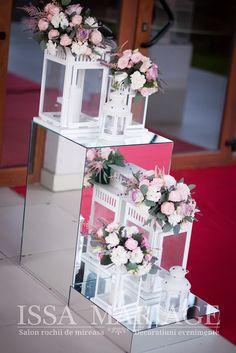 cuburi de oglinda si felinare nunta