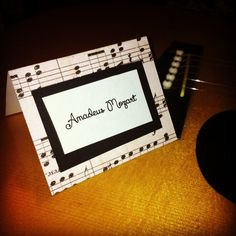 musical music notes place cards for birthdays by glamtastic, $1.25