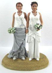 Custom Lesbian Wedding Cake Toppers