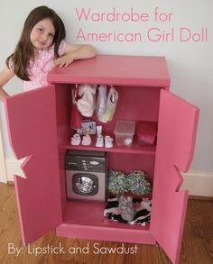 DIY Furniture : DIY Wardrobe for American Girl Doll