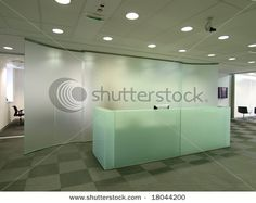 glass reception desk
