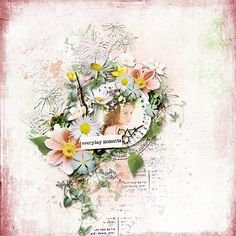 Value Pack: Easy Way Digital Scrapbooking Layouts, Floral Wreath, Wreaths, Home Decor, Floral Crown, Decoration Home, Door Wreaths, Room Decor, Deco Mesh Wreaths