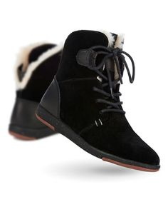 Loving this Black Winton Suede Boot - Women on #zulily! #zulilyfinds