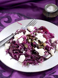 Salade de chou rouge et feta